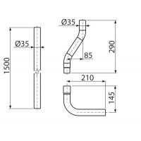 Труба водосливная ø35 мм ALCAPLAST